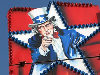 Uncle Sam in Luna park