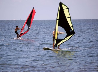 Sailboarding on Biscayne Bay