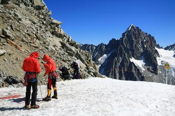 Alpinisme en haute montagne