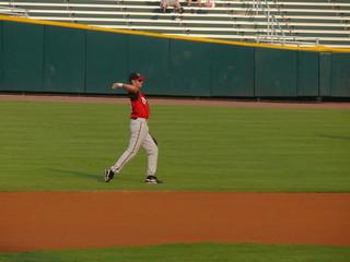 throwing the baseball