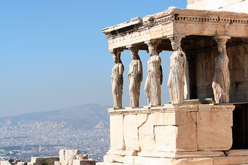 Photo sur Aluminium Athenes porch of the caryatids, in athens
