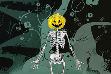 scheletro di Halloween