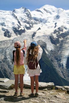 Contemplation du Mont-blanc France