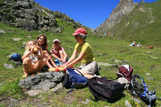 picnic en  montagne