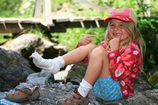 Portrait fillette en randonnée