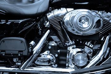 Fototapete - Gros plan sur le moteur d'un moto de légende