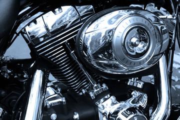 Fototapete - Gros plan sur le moteur d'une moto de légende