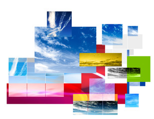 contemporary sky montage layout design
