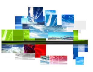 graphic sky montage design background