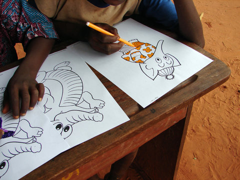 coloriage au Bénin