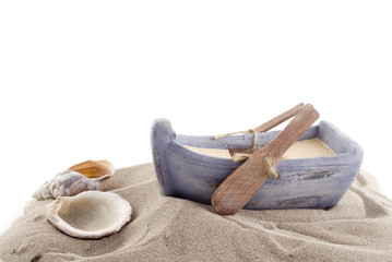 Rowboat with shells