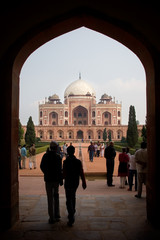 Foto op Canvas Delhi view to Humayun's Tomb