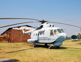 Wall Mural - Vintage Russian Navy helicopter