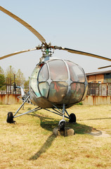 Wall Mural - Abandoned military helicopter
