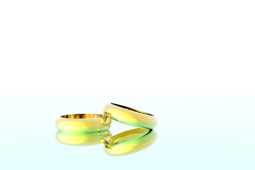 3D render of wedding rings