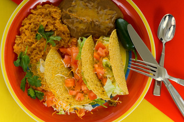 Mexican food plate