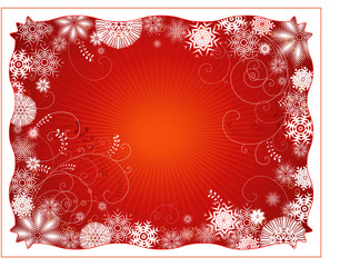 Red christmas background,vector illustration
