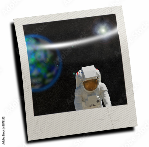 polaroid slide with astronaut stock photo and royalty free images