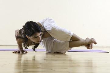 Women doing yoga position