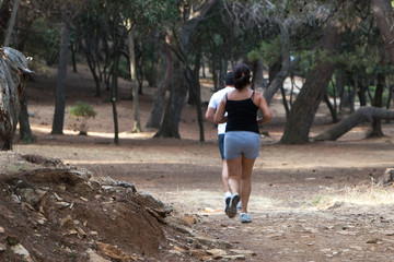 Jogging in the nature