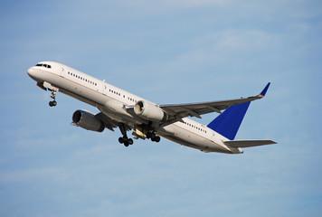 Modern passenger airplane taking off