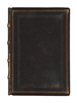 Isolated antique book cover.