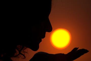 Sun kissing