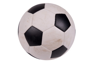 Soccer ball with dirt