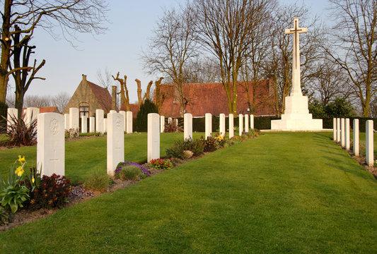 World War One Comonwealth Cemetery in Belgium