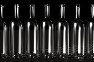 3D render of Bottles