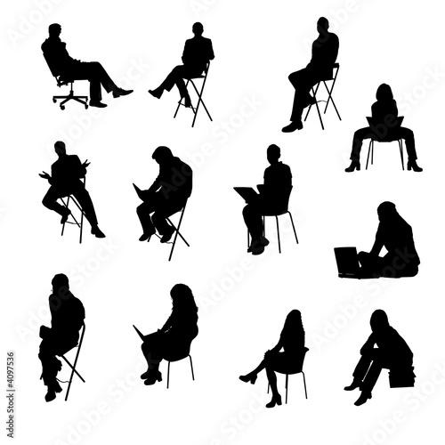 menschen sitzend stockfotos und lizenzfreie bilder auf bild 4097536. Black Bedroom Furniture Sets. Home Design Ideas