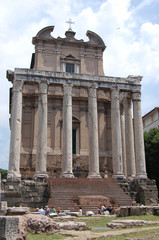 converted cathedral in Roman Forum