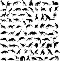 Vector dinosaurs.
