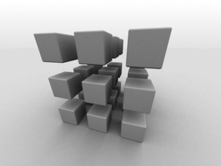 27_cubes_in_cubic_arrange