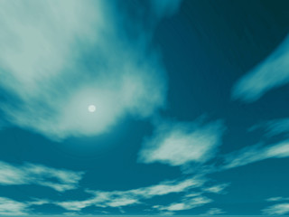 3d render illustration of bright, crystal clear sky and clouds
