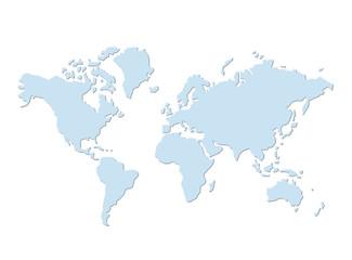 Foto op Plexiglas Wereldkaart Weltkarte 15