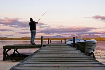Fototapeta pêche au crépuscule #2