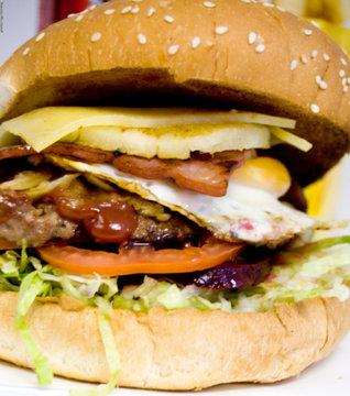 australian hamburger with the lot