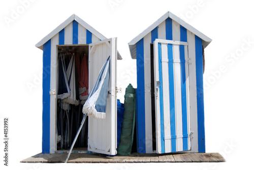 cabines de plage bleues photo libre de droits sur la banque d 39 images image 4153992. Black Bedroom Furniture Sets. Home Design Ideas