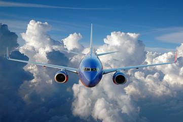Keuken foto achterwand Vliegtuig Commercial airplane in flight