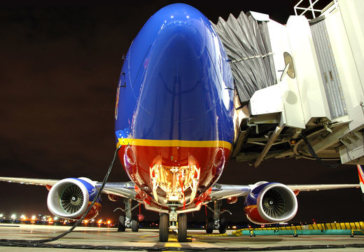 Southwest Airlines plane at the gate