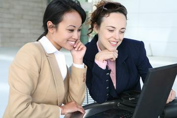 Business Women on Computer