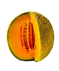Isolated Cantaloupe