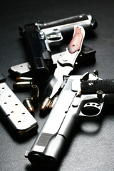 pistols and blade