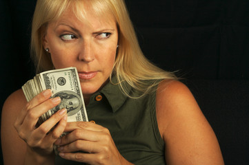 Attractive Woman Getting Greedy About her Money