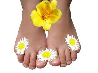 Les petits pieds fleuris