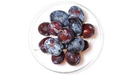 plums on dish 2