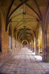 Stone corridor - St John's College - University of Cambridge