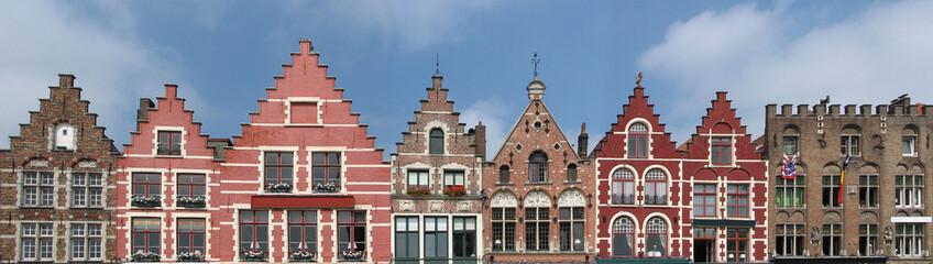 Foto op Canvas Brugge bruges - façades