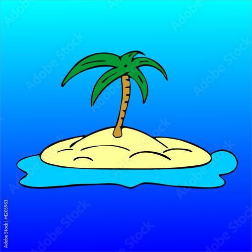 Insel mit palme stockfotos und lizenzfreie vektoren auf for Koch auf englisch